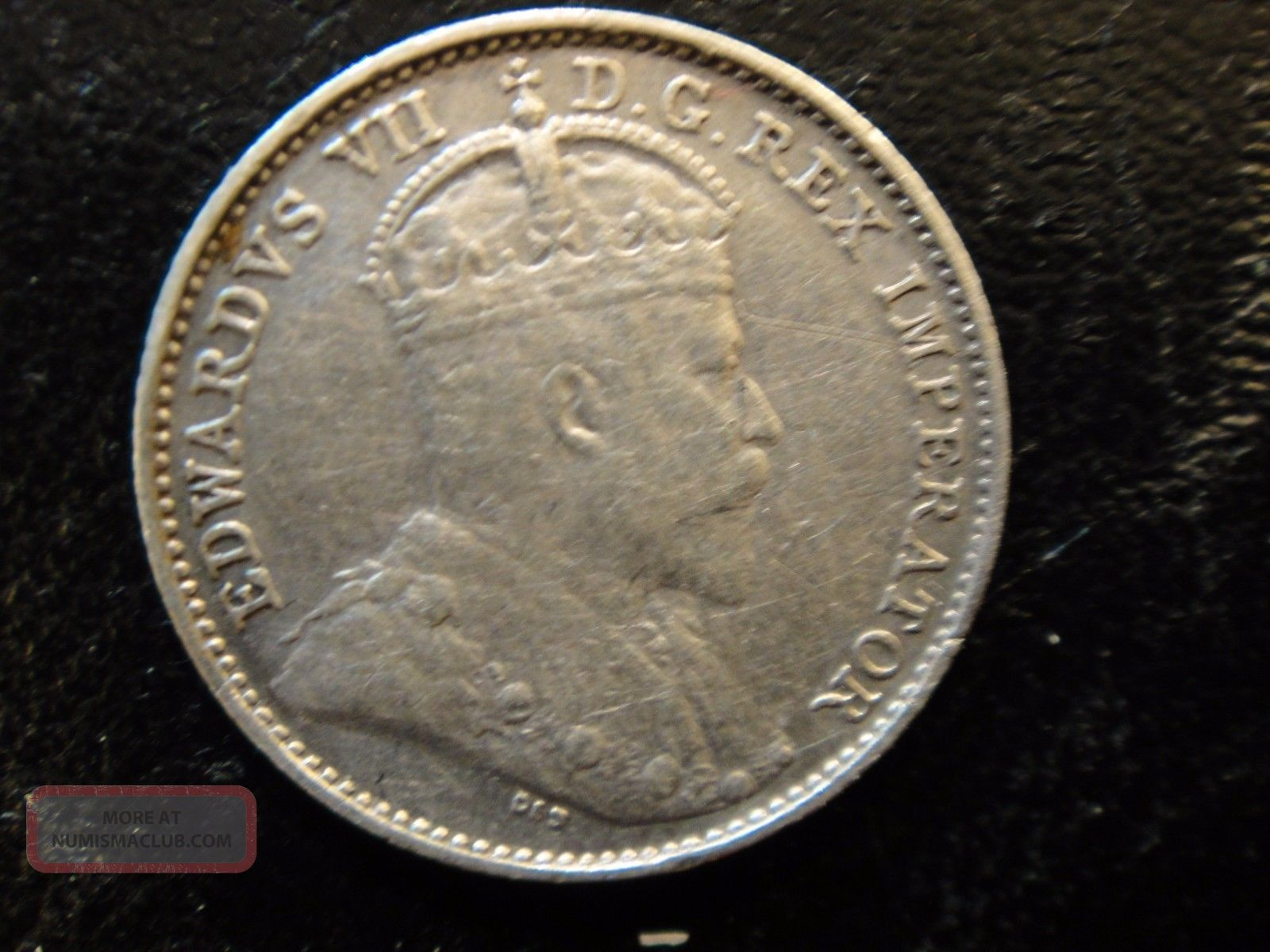 1909 Canada Edward Vii Sterling Silver 5 Cents.  Extra Fine Details (cleaned). Coins: Canada photo