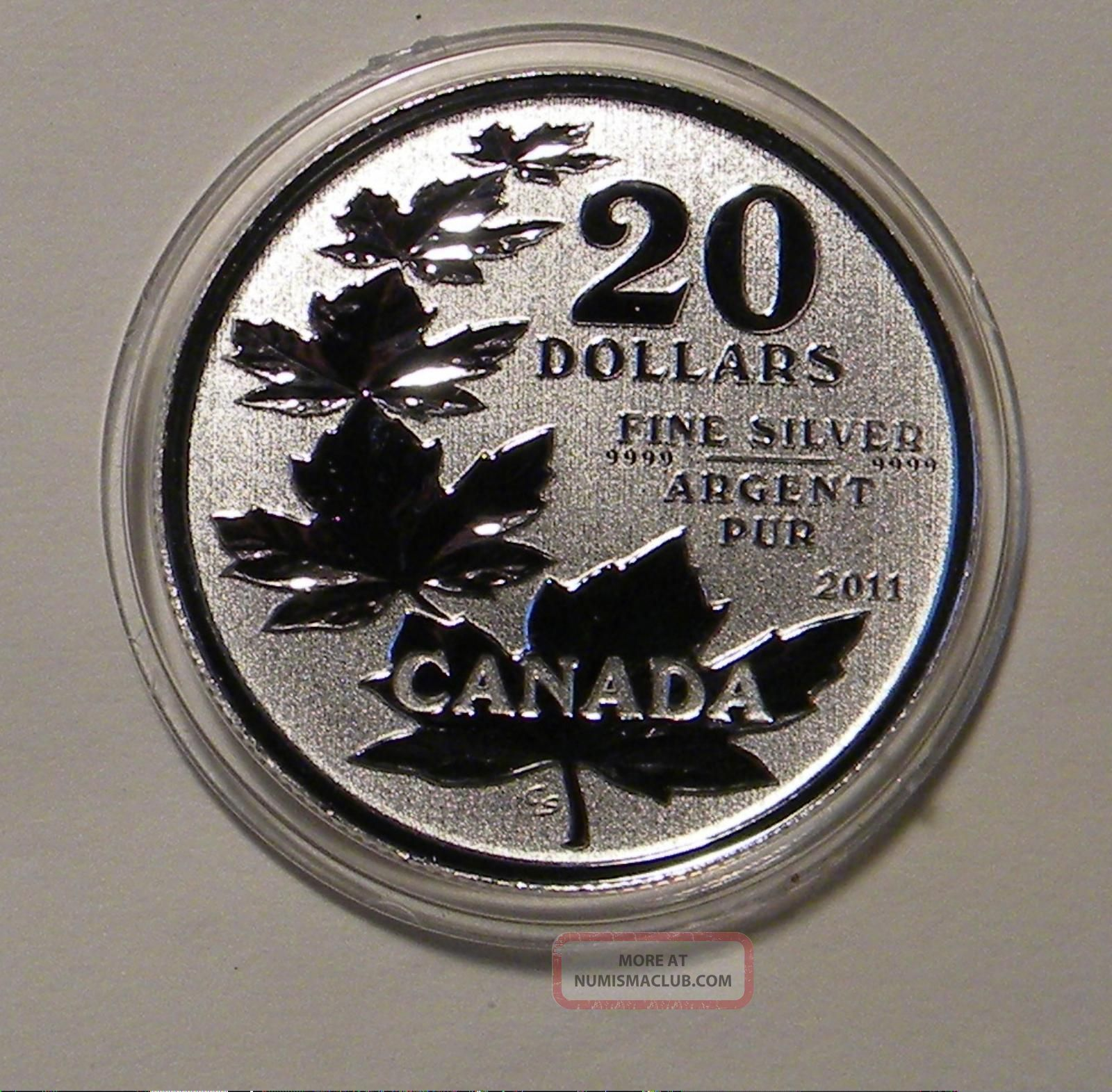 2011 Canada.  9999 Silver $20 Maple Leaf Coin In Capsule Coins: Canada photo