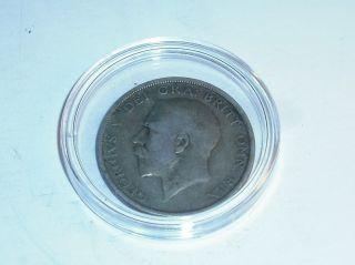 1920 Uk Great Britain Half Crown Silver Coin Ungraded British photo