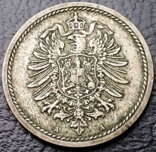 1889 - A Germany 5 Pfennig Coin - Deutsches Reich - Km 3 - Combined S/h photo