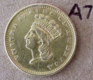 1856 P One Dollar Gold Coin A7 photo