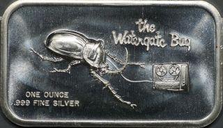 The Watergate Bug 1 Oz 0.  999 Silver Bar photo