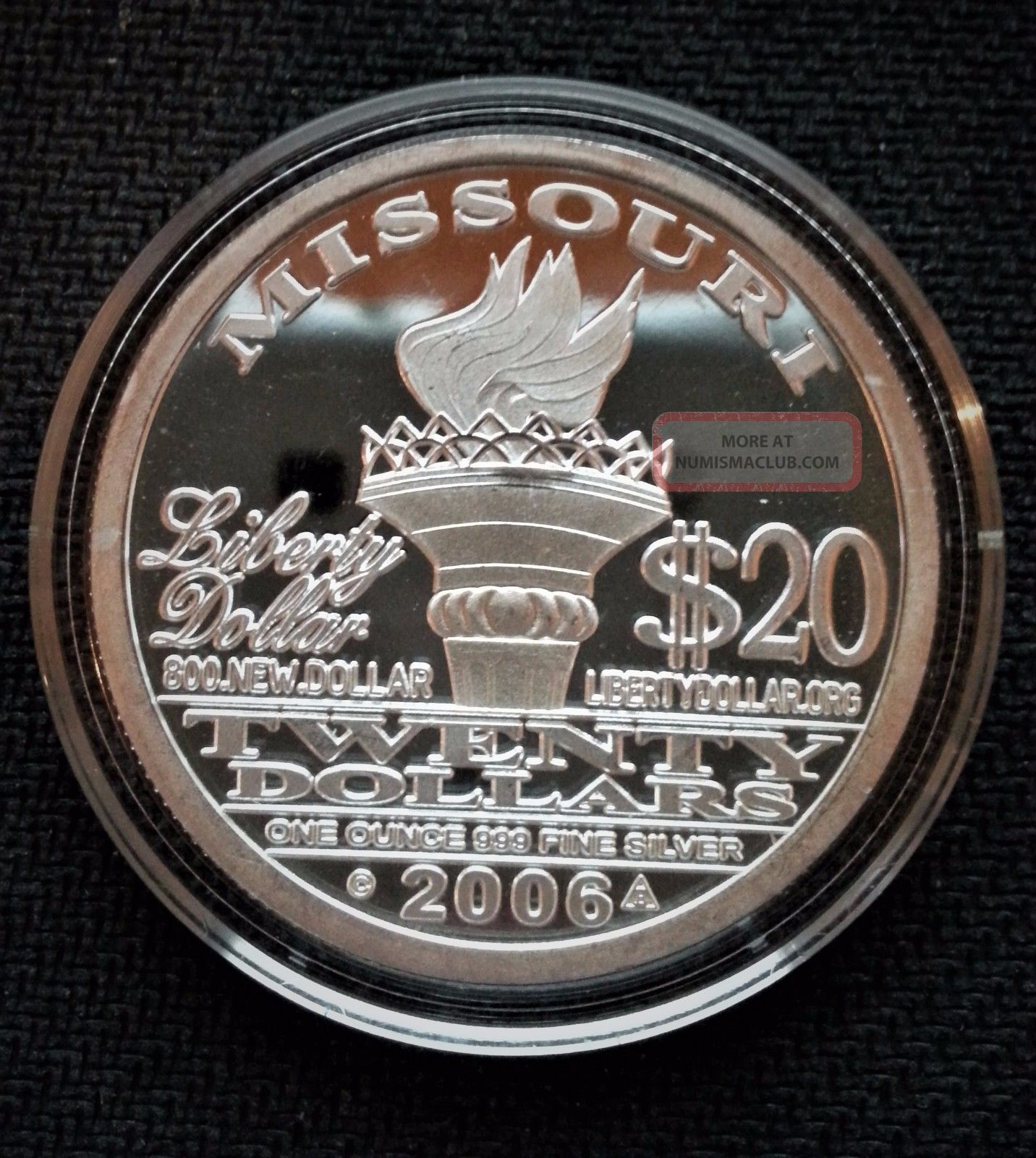 2006 20 Norfed 1 Oz 999 Silver 20 Dollar