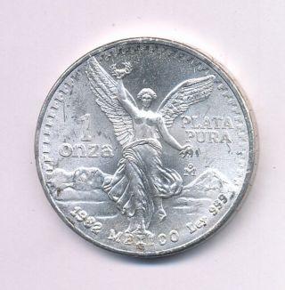 1982 Mexico 1 Oz Silver Onza Libertad Opens At.  99c photo