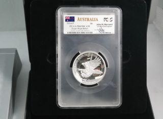 2014 - P $8 Australia Wedge - Tailed Eagle High Relief Pcgs Pr69 Dcam 5oz J - Mercanti photo