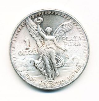 1983 Mexico 1 Oz Silver Onza Libertad Opens At.  99c photo