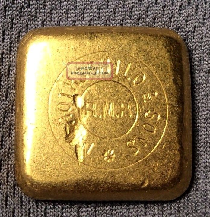 Nm Rothschild & Sons 50 Gram Gold Bar Square Matte Finish Very Rare Bank Ounce Gold photo