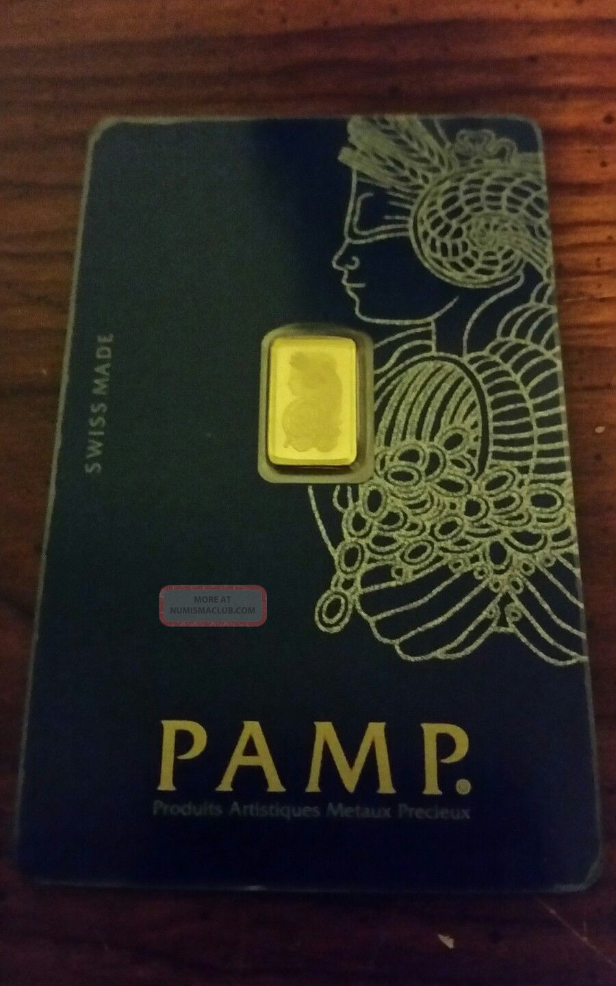 Pamp Suisse 1 Gram.  9999 Gold Bar Fortuna With Assay Certificate Gold photo