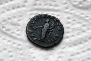 Roman Ancient Coin Of Marcus Aurelius Limes Denarius photo