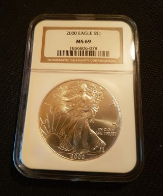 2000 American Silver Eagle Ms69 Ngc photo