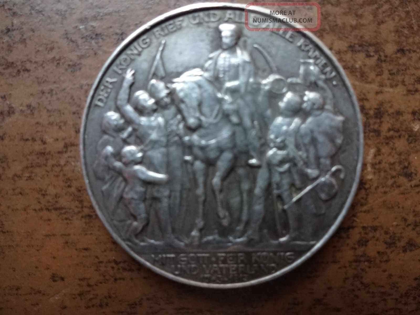 1913 Prussia Deutsches Reich Napoleon Zwei Mark Silver Coin - Revised Other Coins of the World photo