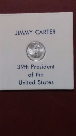 Franklin Jimmy Carter 10mm Sterling Silver Coin photo