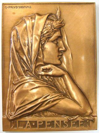 Paris Medal - La Pensee (thought) By G.  Prud ' Homme photo