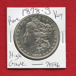 1878 S Morgan Silver Dollar 78546 Coin Us Rare Key Date Estate photo