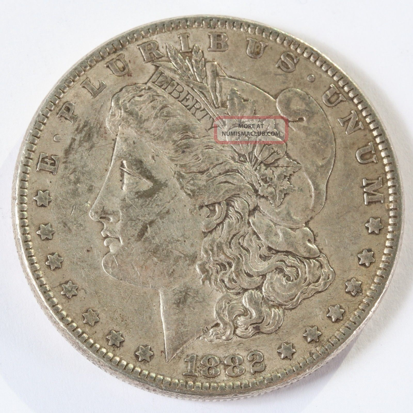 1882 P Morgan Silver Dollar 1 Silver Coin D737