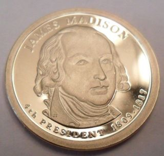 2007 S James Madison Presidential Proof Dollar Coin photo