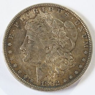 1882 P Morgan Silver Dollar $1 Silver Coin D735 photo