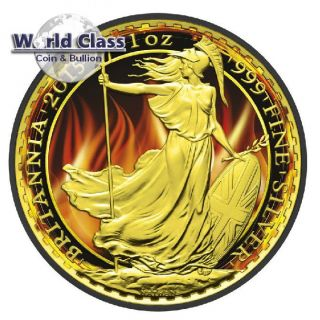 2015 Burning Britannia Black Ruthenium 1 Oz Silver Coin photo