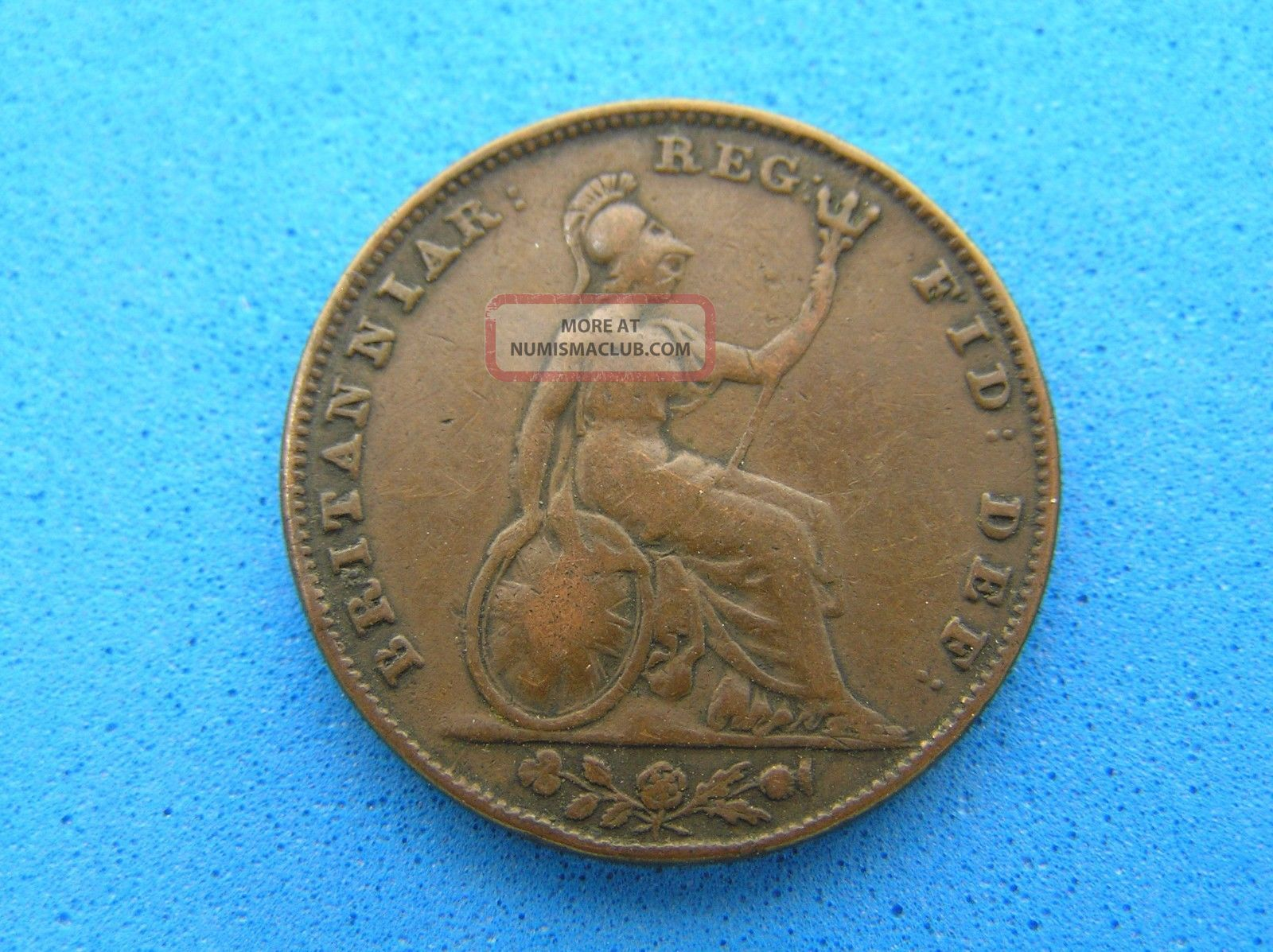 1841 Great Britain Uk Farthing Coin,  Queen Victoria Farthing photo