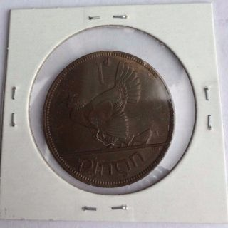 Ireland 1937 Irish One Penny Coin photo