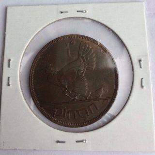 Ireland 1937 Irish One Penny Coin photo