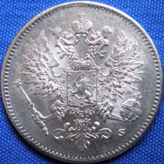 Russian Empire,  Finland 25 Pennia (penniä) 1916,  Silver Coin photo