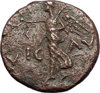 Augustus Victory Over Julius Caesar Assassins Brutus & Cassius Roman Coin I58394 photo