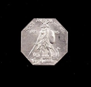 1925 Norse Commemorative Silver Medal Thick Us photo