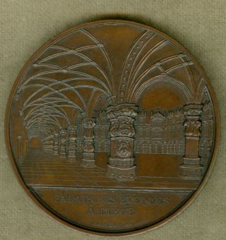 1851 Belgium Medal For The Bishop ' S Palace At Liege.  By Jacques Wiener photo