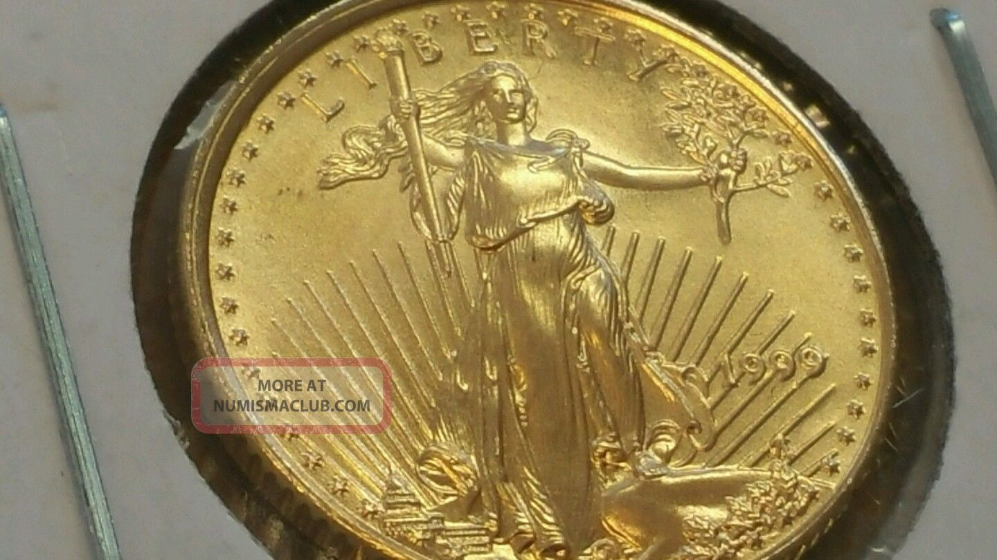 1999 1/10 Oz Gold American Eagle Looks Great Gold photo