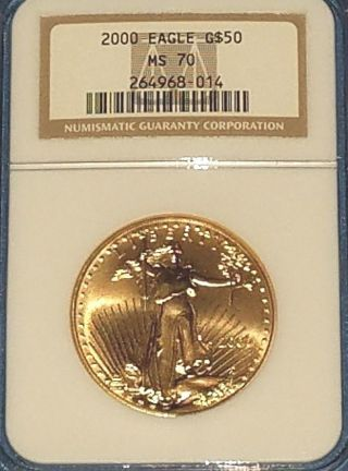 2000 $50 American Gold Eagle Ngc Ms70 photo