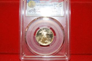 1992 - P American Gold Eagle 1/4 Oz Pcgs Pr69 Dcam Reagan Signature Series photo