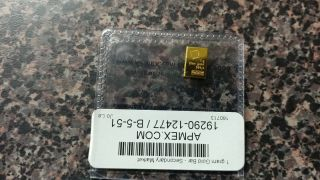 Gold 1 Gram Bar photo