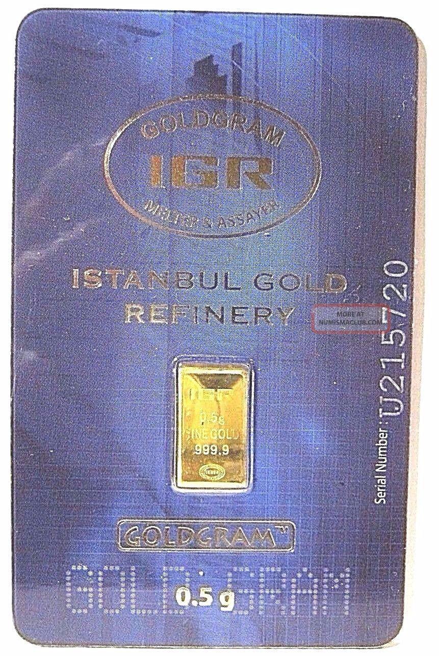 1/2 Gram.  5 G Gold Igr Assay.  9999 Bar $0 Ship W/track Gold photo