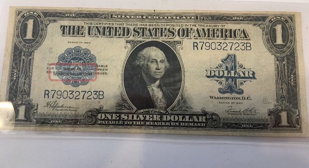 Series 1923 1 One Dollar Silver Certificate Large Size Note Very