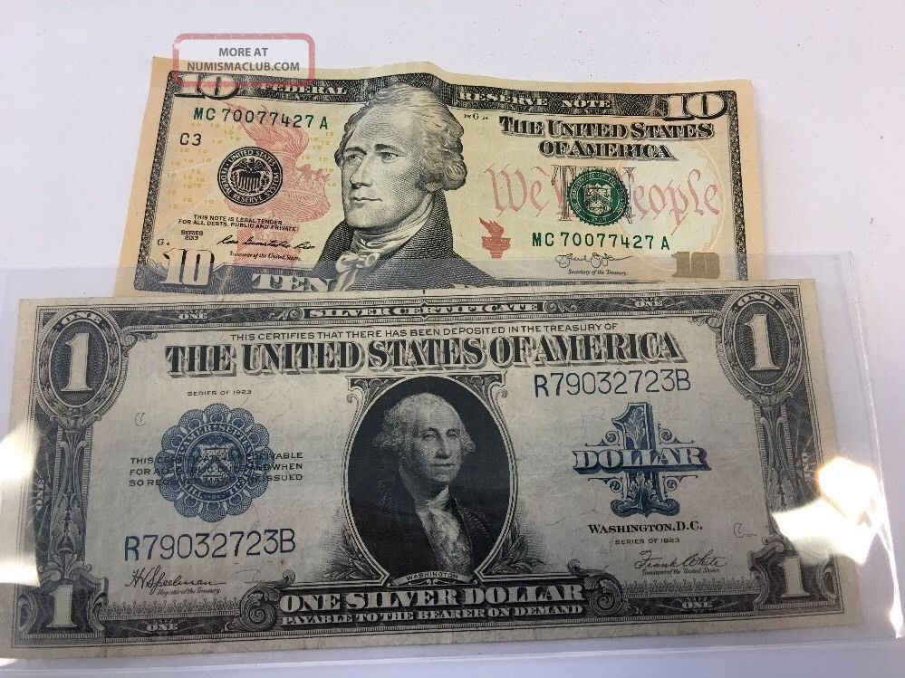 Series 1923 $1 One Dollar Silver Certificate Large Size Note Very