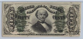 50 Cent Third Issue Fractional Currency Pmg 50,  No