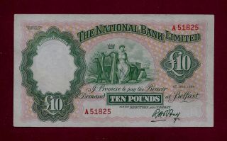 Ireland Northern National Bank Limited 10 Pounds 1959 P - 160 (uk Great Britain) photo