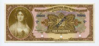 Venezuela Specimen 100 Bolivares 1933,  99c photo