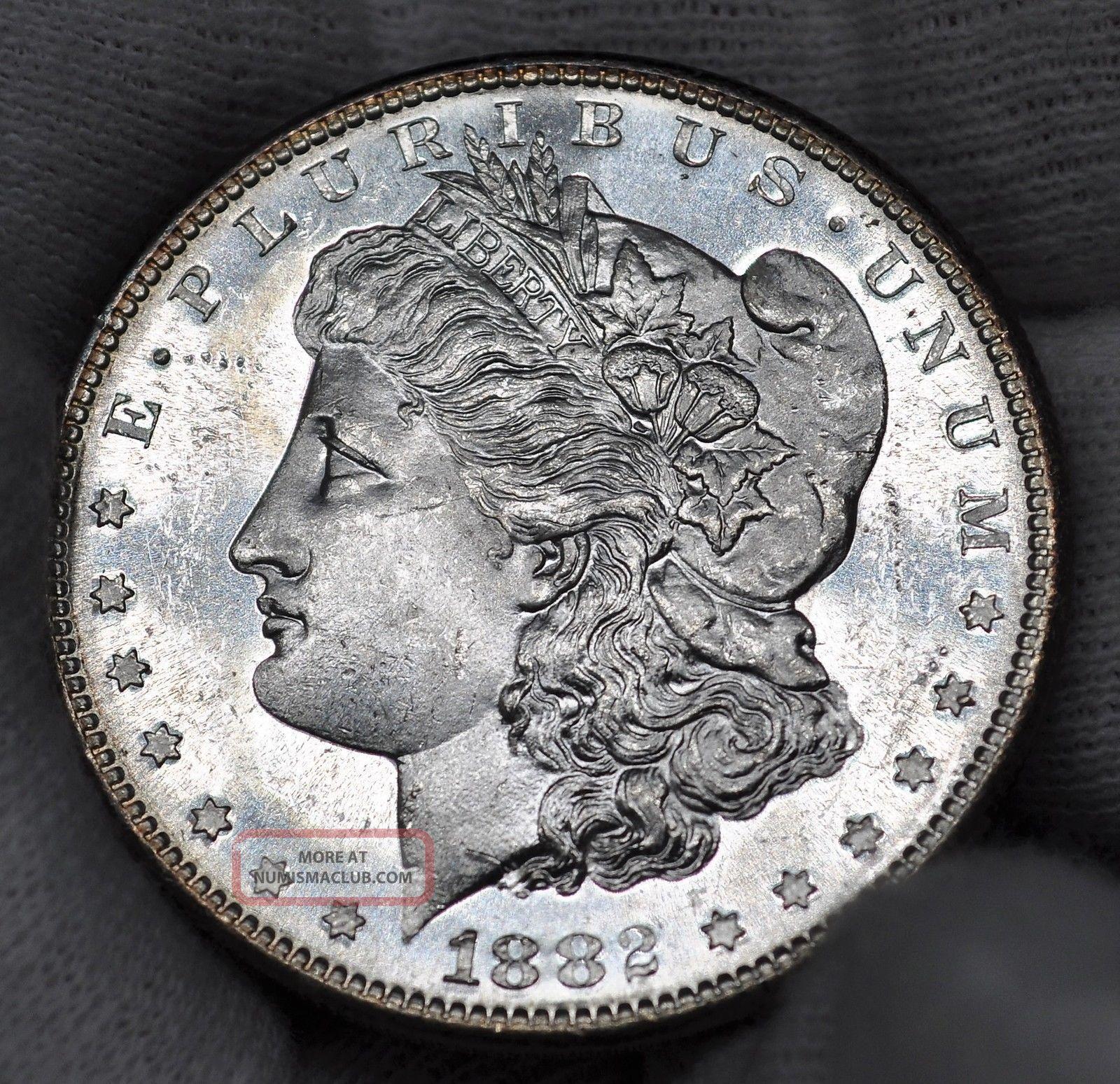 1882 S - Morgan Silver Dollar - Pl/dmpl - Unc (315) Dollars photo