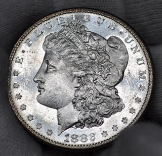 1882 S - Morgan Silver Dollar - Pl/dmpl - Unc (315) photo