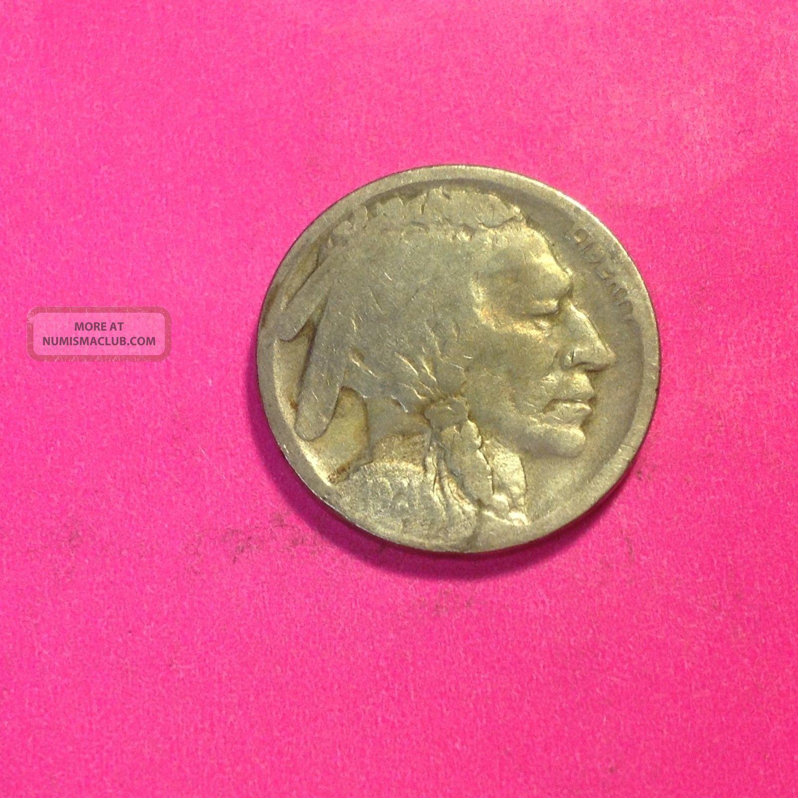 1921 - S Buffalo Nickel Low Mintage,  On G $45.  00 Nickels photo