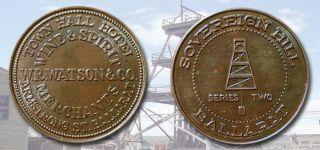 Australia: - Sovereign Hill Souvenir Trade Token Medallion,  Undated C1990 Adp5694 photo