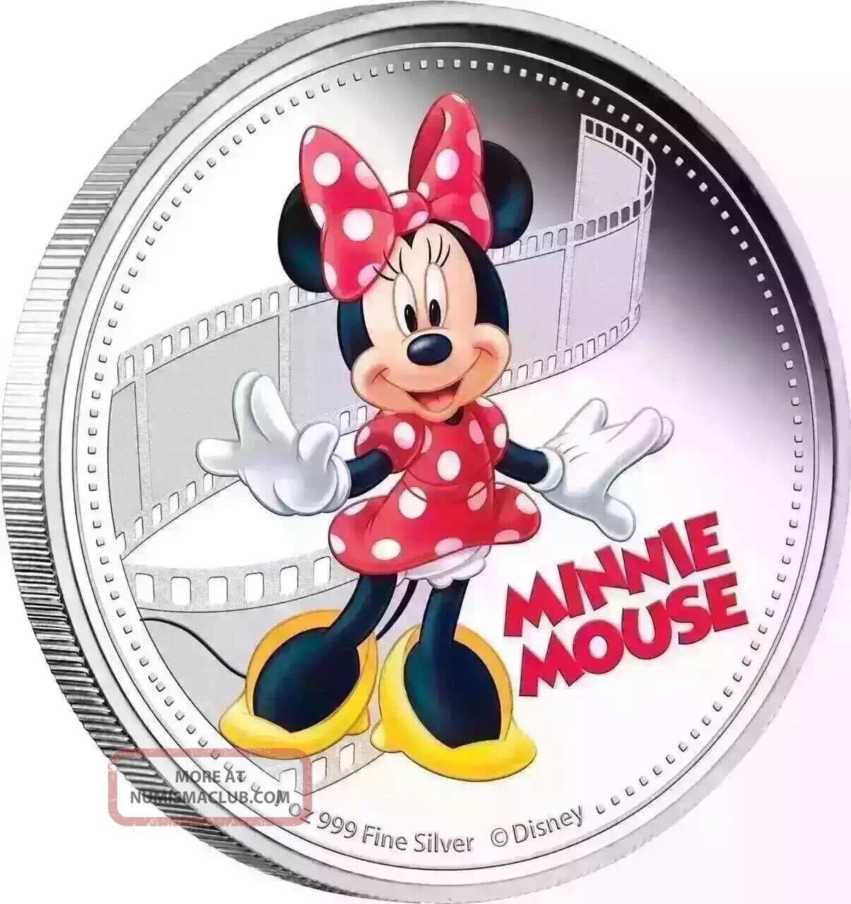 Minnie Mouse 2017 - D Isney Mickey & Friends 1 Oz Silver Coin 037 Coins: World photo