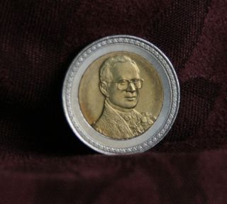 60th Year Reign King Bhumibol Adulyadej 2006 Rama Ix Thailand 10 Baht Coin Siam photo