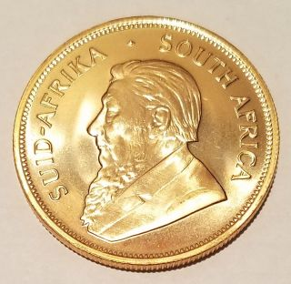1978 South African Krugerrand 1oz.  999 Fine Gold Coin Bullion photo