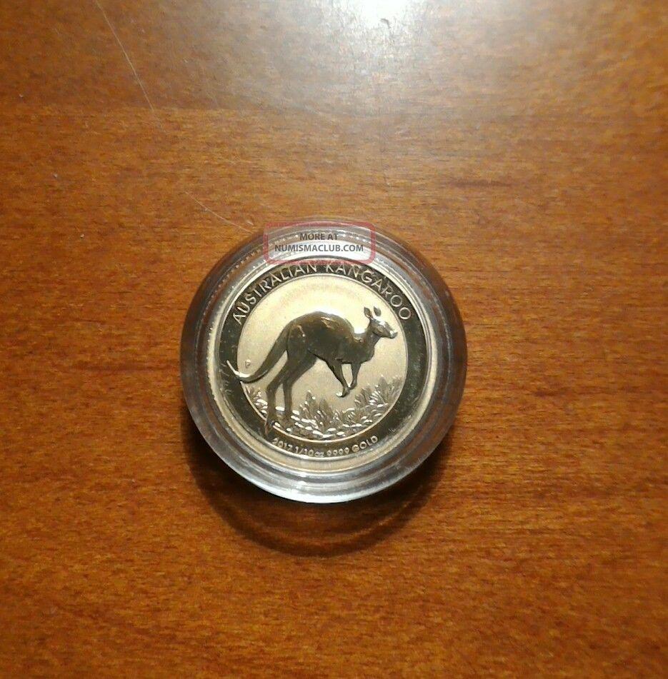 2017 - $15 Australian 1/10oz Gold Kangaroo.  9999 Fine Bu Coins photo