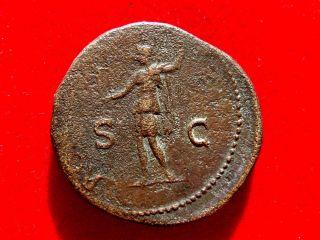 Lucernae Vespasian 69 - 79 Ad Ae Sestertius,  Rome,  Roma.  S/c.  Rare.  Ric 443. photo
