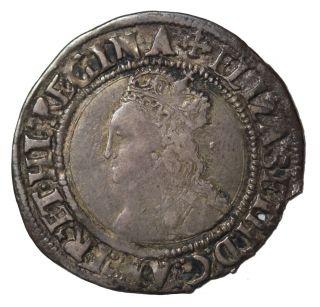 Elizabeth I 1560 - 1561 Ad Great Britain Ar Silver Groat S.  2556 Mm Cross Crosslett photo