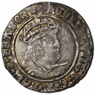 Great Britain Henry Viii 1509 - 1547 Ar Silver Groat London S.  2337e photo